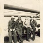 1934 James on right aboard Athenia returning home