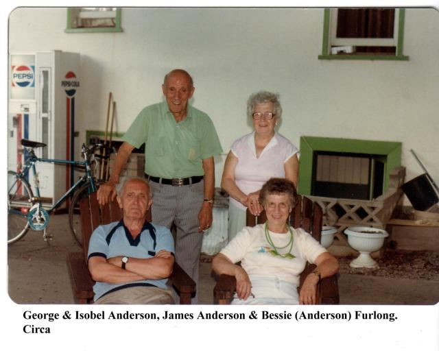 George, Isobel, & James Anderson & Bessie Furlong