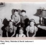 Helen, Mary, Betty, Malcolm, David 1943