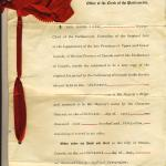 Bessie's divorce decree passed by act of parliament April 13, 1949